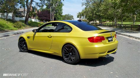 Yellow's Back In Fashion Bmw E92 M3 In Phoenix Yellow