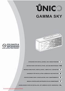 Olimpia Splendid Sky 14 Sf He User Guide Manual Air