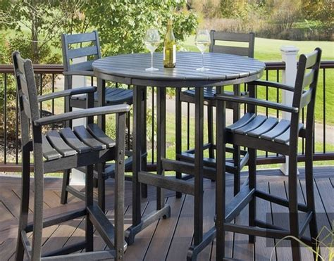 tall outdoor bistro table set chic and stylish tall patio table outdoor decorations