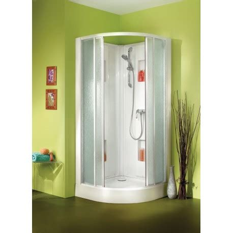 Cabine de douche Leda 90 x 90 quart de rond, livré, posé