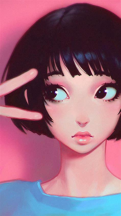 ay ilya kuvshinov pink girl illustration art wallpaper