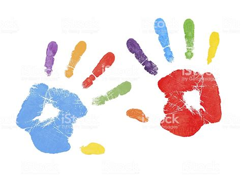 colorful handprints stock photo  image  istock