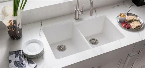 kitchen sink materials comparison elkay quartz classic kitchen sinks bold granite colors 5855