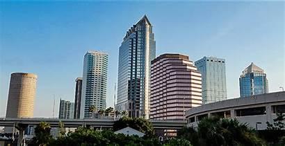 Tampa Bridge Street Platt Florida Animation Downtown