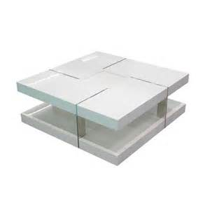 table basse carree blanche envie de meubles table basse carr 233 e blanche catane pas