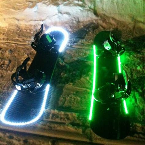 snowboard led lights snowboarder advice for snowboarding holidays