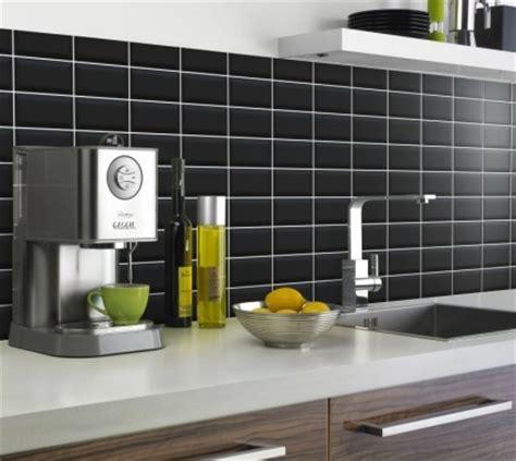 kitchen splashback mini metro satin black xcm
