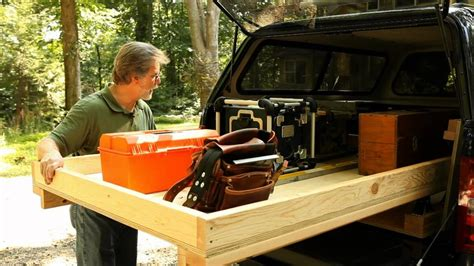 truck bed tool storage toolbox tools rolling diy pickup box slide homemade drawers build plans trucks tray system wood away