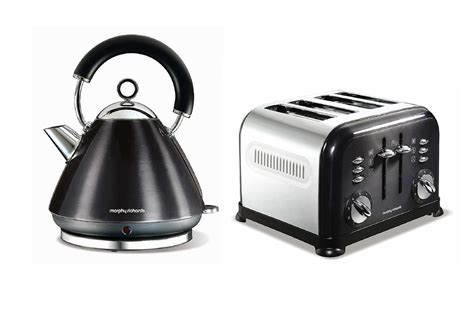 morphy richards toaster and kettle morphy richards metallic accents kettle and retro 4 slice