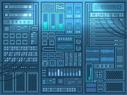 Server Data Working Dribbble Animation Web Graphic