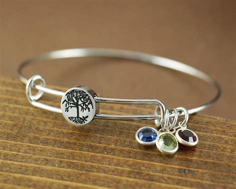 Tree Of Life Birthstone Bangle Bracelet At Sweet Blossom Gifts. Stackable Bangle Bracelets With Charms. 10000 Wedding Rings. Proposal Wedding Rings. Jewellery Design Rings. Tennis Ankle Bracelet. Quartz Stud Earrings. Emerald Diamond Bracelet. Gorgeous Earrings