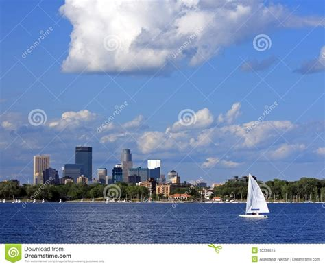 Boat Graphics Minneapolis by Sail Boat On Lake Calhoun In Minneapolis Royalty Free