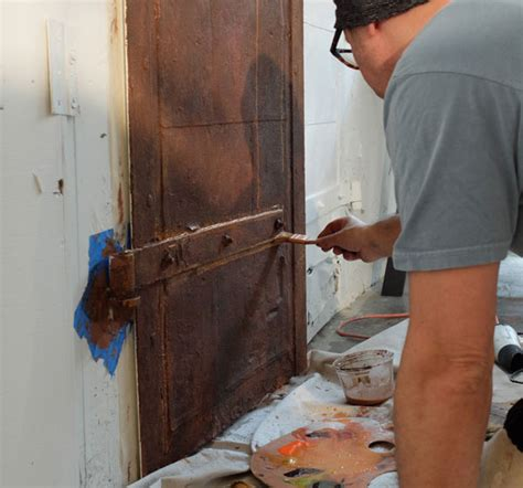 rust faux door patina certain graze vibrant lastly brushed spalter texture areas dry colors adding