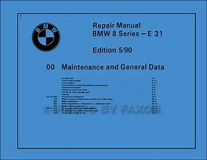 1991 Bmw 850i Electrical Troubleshooting Manual Reprint