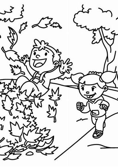 Coloring Fall Pages Autumn Leaves Printable Printables