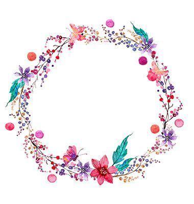 bebek icin cicekli etiket ile ilgili goersel sonucu dekor watercolor flower wreath art ve