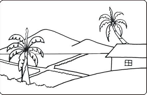 mewarnai pemandangan alam pdf belajar mewarnai gambar