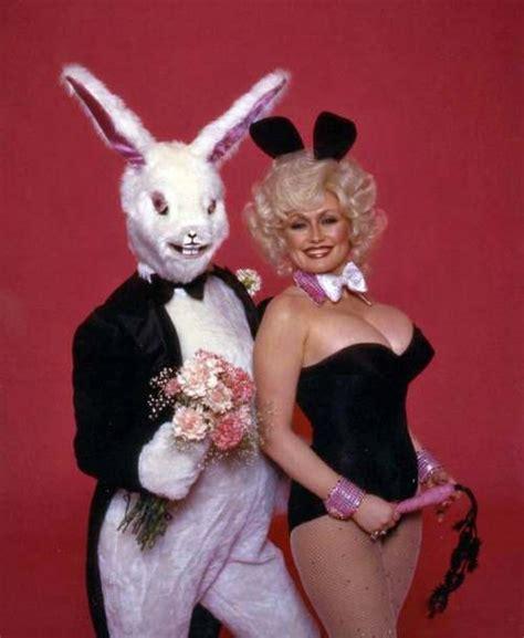 bunny girl dolly parton seduces  easter bunny