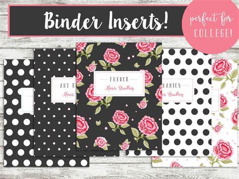 printable binder covers set   custom college