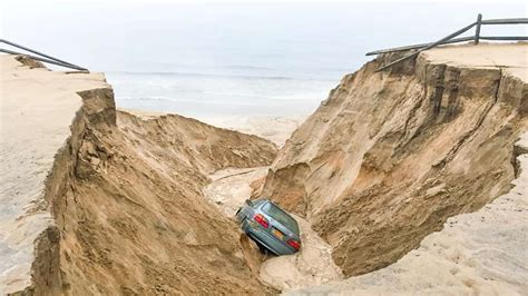 Dune Collapses, Swallows Car On Cape Cod  Boston News