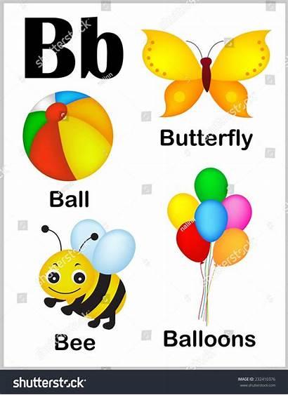 Words Letter Alphabet Printable Sheet Colorful Illustrations