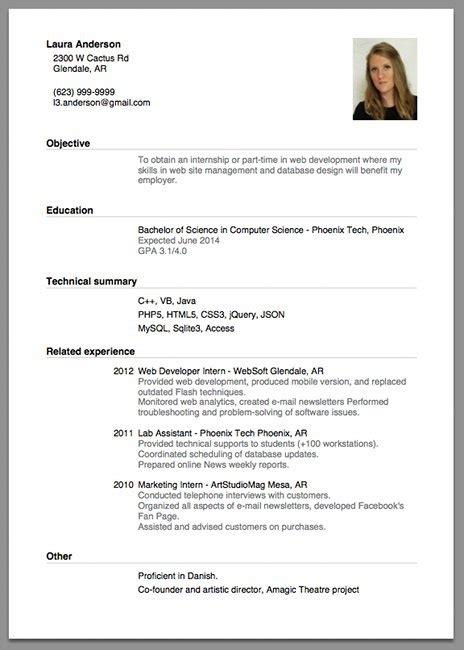 sle of resume for application jennywashere