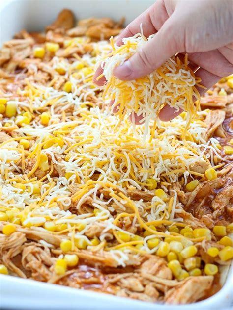An easy to prepare chicken enchilada casserole with only five ingredients. Chicken Enchilada Casserole   Recipe   Chicken enchilada ...