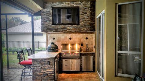 creative outdoor kitchens granite  stonework outdoor