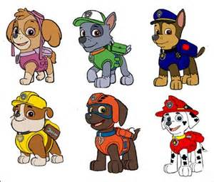 PAW Patrol Character Cut Outs