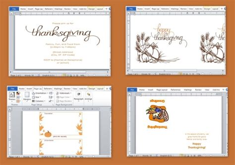 Thanksgiving Invitation Templates Free Word by Best Thanksgiving Templates For Microsoft Word