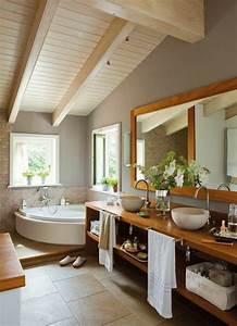 idee decoration salle de bain salle de bain zen sous With idee salle de bain sous pente