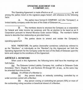 Operating agreement 8 free pdf doc download for Corporate partnership agreement template
