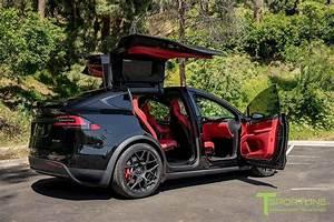 Project TSX8 - 2016 Tesla Model X P100D Ludicrous - Custom Bentley Red Interior 13   Tesla