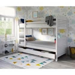 woopi lit superpos 233 enfant tiroir pin blanchi achat vente lits superposes woopi lit