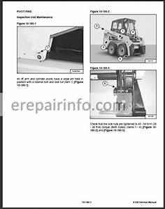 Bobcat S100 Service Manual Skid Steer Loader 6987401 4