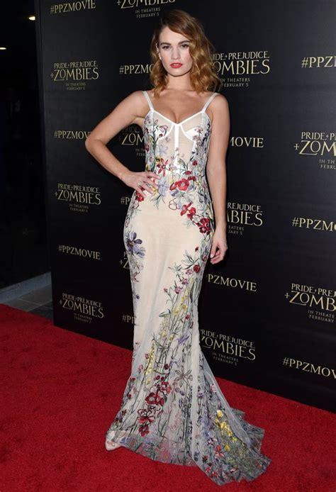 lily jamess gorgeous dress  pride  prejudice