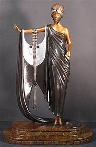 Erte, Sophisticated Lady (Bronze), Patina on Bronze, Sculpture