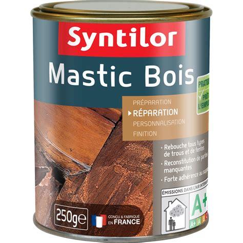 mastic a bois ou pate a bois mastic 224 bois de rebouchage syntilor bois clair 250 g leroy merlin