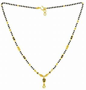 Modern MangalSutra with black beads and gold balls ...