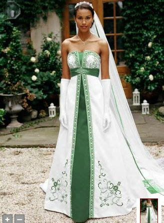 green wedding dressim lovin   green red