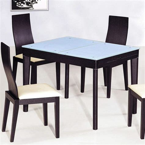 contemporary functional dining room table  black wood