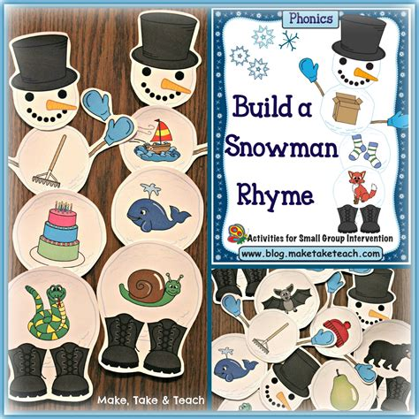 build a snowman activities for rhyme and beginning sounds 431 | SnowmanRhymecolfinal