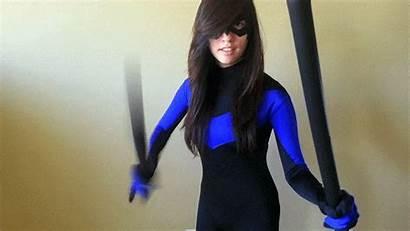 Cosplay Nightwing Deviantart Zatanna Richbernatovech Headshot2 Deviant