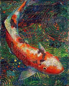 Koi Fish Acrylic Painting