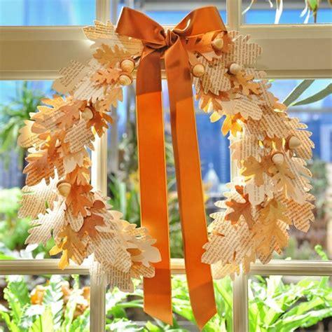 Herbstlaub Basteln Blaetter Deko Aus Papier by Herbstdekorationen F 252 R Zuhause Kranz Papier Blaetter