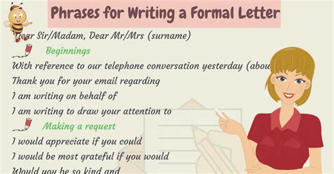 words  phrases  writing formal letters