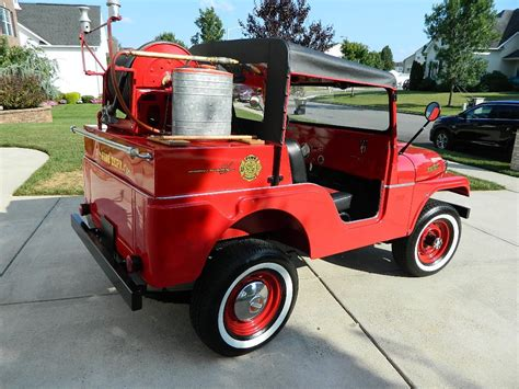 jeep fire truck for sale 1958 willys jeep cj5 fire truck for sale