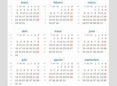 Calendario 2018 con Días Festivos de Colombia Calendario