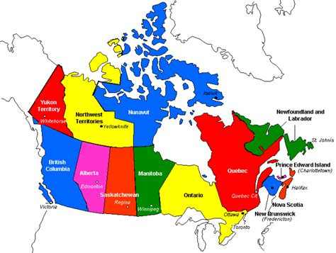 canadainfo geography maps maps political