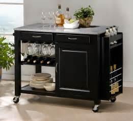 kitchen island with bar top modern black kitchen island cart cabinet wine bottle glass rack granite top ebay